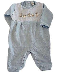 Macacão Infantil Masculino - Azul/Patinhos - Doce Melado