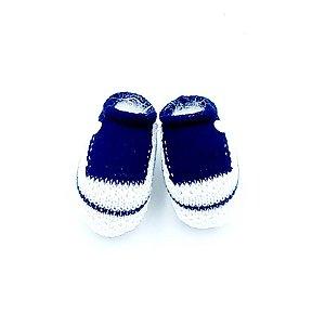 Sapatinho para Bebê de Linha - Marinho - Vanda
