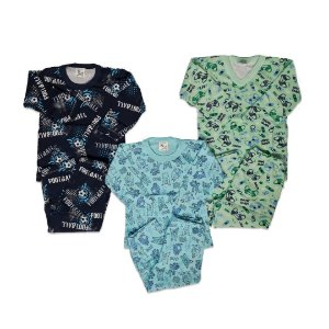 Kit com 3 Pijamas Infantil Masculino - Mafessoni