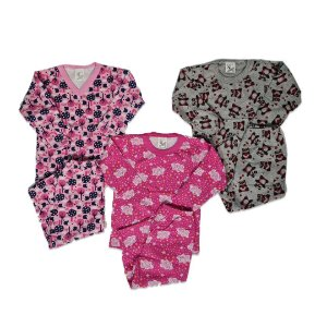 Kit com 3 Pijamas Infantil Feminino - Mafessoni