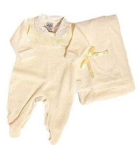 Saída Maternidade Plush Feminina - Amarelo - Sonho Mágico