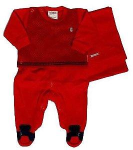 Saída Maternidade Masculina - Vermelho - Sonho Mágico