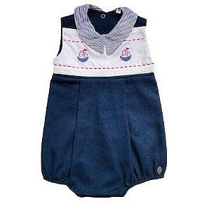 Macacão Curto Infantil Masculino - Azul - Kidstar