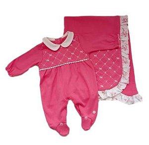 Saída Maternidade Feminina - Rosa - Anjos Baby