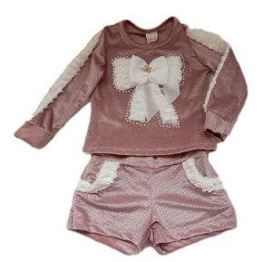 Conjunto Infantil Feminino - Rose - Kukiê