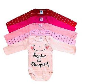 Kit com 5 Body's Infantil Feminino - Pulla Bulla