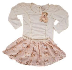 Conjunto Infantil Feminino - Off White - Anjos Baby