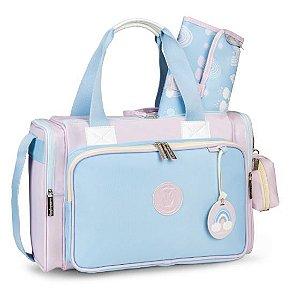 Bolsa Térmica Anne Colors - Azul/Rosa - Masterbag