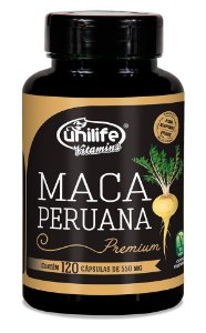 Maca Peruana Premium Unilife 120 cápsulas 550mg