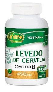 Levedo de Cerveja Complexo B Unilife 400 comprimidos 450mg