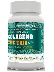 Colágeno ZMC Trio Verisol + Tipo 1 + Tipo 2 120 comprimidos 1250mg Apisnutri