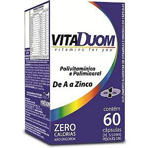 VitaDuom Polivitamínico e Polimineral de A a Zinco 60 caps DUOM