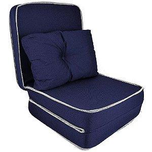 Puff  Conforto Solteiro 3 em 1 Com Travesseiro Espuma D20 Fa Maringá  60x10x180