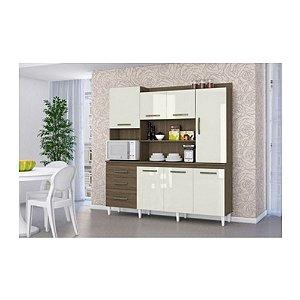 Kit Cozinha Mirela Aramóveis Ambar tx Off/White
