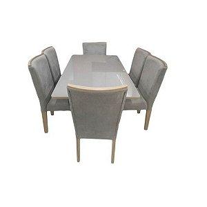 Conjunto de Mesa Kappesberg 6 Cadeiras 129 Tília Freijó