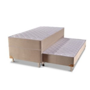 Box Bicama Acoplado Dual Box Ortobel c/Auxiliar Molas Ensacadas 88x66x188