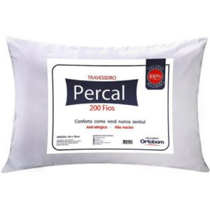 Travesseiro Ortobom Percal 200 Fios 50x70