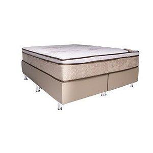Conjunto Box Queen - Colchão Castor Revolution + Base Madbox Corino Bege 158X72X198