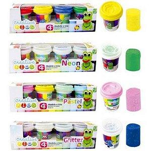 Massinhas De Modelar Batiki - Glitter/Neon/Tons Pastéis Modele  e Crie