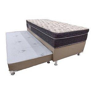 Conjunto Box  Bicama Solteiro C/Auxiliar Iso100 Ortobom- 88x70x188
