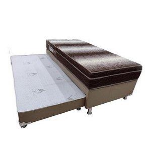 Conjunto Box Bicama Solteiro C/Auxiliar Light Ortopédico Ortobom- 88x66x188