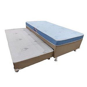 Conjunto Box Bicama Solteiro C/Auxiliar Querubin Anjos  88x54x188