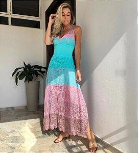 Vestido Midi Ibiza Turquesa