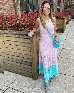 Vestido Midi Bicolor Candy Color