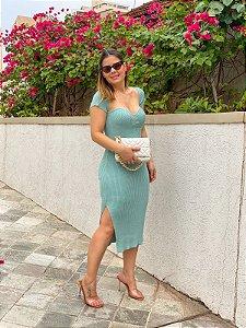 Vestido Midi Verde Água