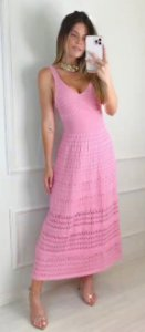 Vestido de Tricot Ariel Rosa