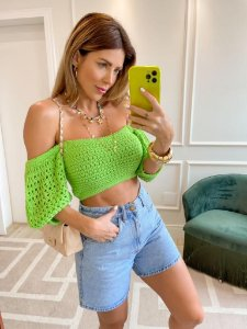 Cropped Tricot Verde