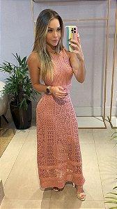Vestido Longo Rosa Matte