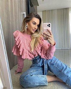 Blusa de Tricot Rosa
