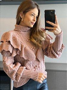 Blusa de Tricot Rosé