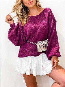 Blusa de Tricot Roxa
