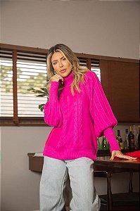 Blusa Pink Gola Alta