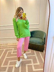 Blusa de Tricot Verde Neon