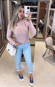 Blusa Rosé Pérola