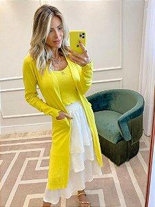 Conjunto de Tricot Amarelo