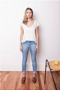 Calça Jeans Cigarrete Azul Claro - 1º ciclo