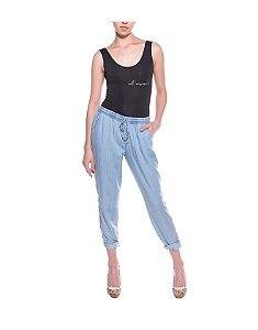 Calça Pijama Jeans Azul Claro