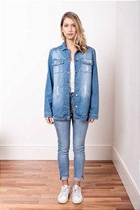 Jaqueta Jeans Oversized Azul Médio - 1º ciclo