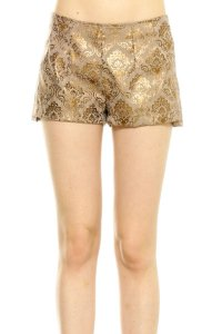 Short Brocado Dourado