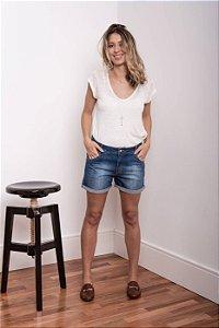 Short Jeans Comfort Azul Médio - 1º ciclo