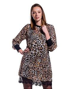 Vestido Chiffon Mix Animal Print