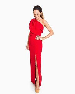 Vestido de Festa Longo Vermelho Bossa