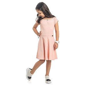 Vestido Infantil Kamylus Canelado
