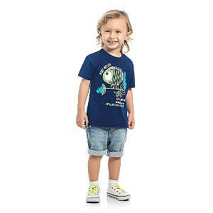 Camiseta Infantil Kamylus Camaleão