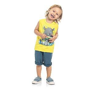 Camiseta Bebê Kamylus Boquinha Rinoceronte