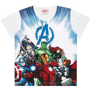 Camiseta Infantil Kamylus Os Vingadores